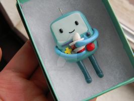 Pregnant BMO (Beemo) Pendant-Polymer Clay-AT by ThePetiteShop