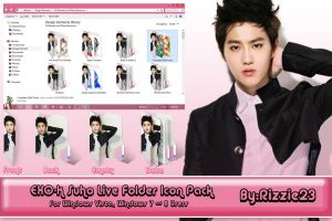 Suho Live Folder Icon Pack by Rizzie23