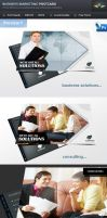 Business Solution and Consulting Postcard by Saptarang