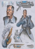 Medic Sketches by Luftwaffles