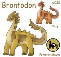 Brontodon 020 by PokemonMasta
