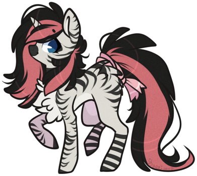 AUCTION : Pink Zebra (closed) by D-Dyee