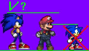 My Sonic resprite for Super Smash Flash 2? by NSMBXomega