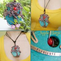 Apple Magic - Tree Necklace by popnicute