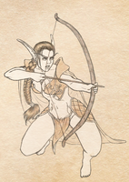 Adoptable: The Archer by SketchyBailey