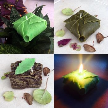 Homemade Lembas + Leaf/Wood/Stone Candles by AsliBayrak