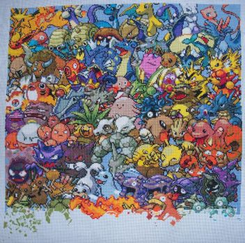 Pokemon Gen. 1 Cross Stitch 13 by lizardlea