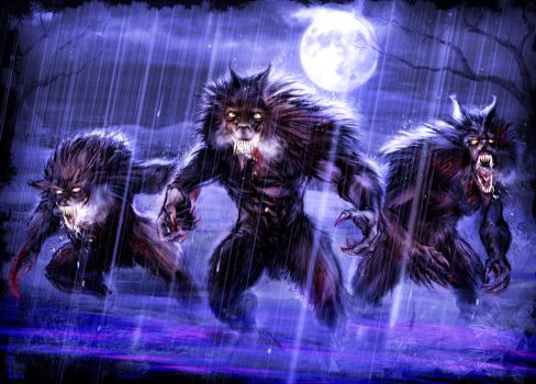 WereWolves at Night by Jeff-Jumpers-art