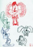 Roger Rabbit sketches 2012 by spongefox