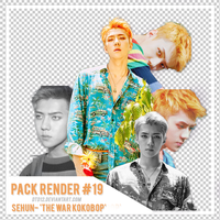 [PACK RENDER #19] SEHUN - THE WAR KOKOBOP by DTD12