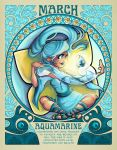 Birthstones Nouveau - March by cute-loot