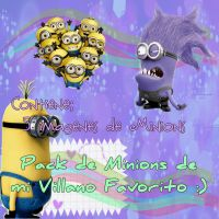 Pack png De los Minions by Macaloverk3