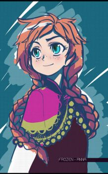 Frozen - Anna by MightyLeafy