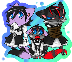 The Kitty Maid Family by Hybrid-Mars