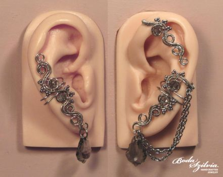 Ghost ear wrap set by bodaszilvia