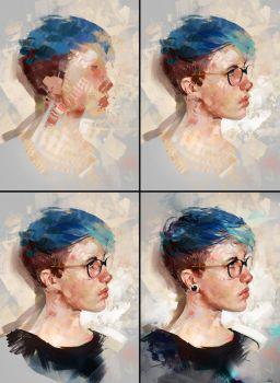 Colour Study 03 - process by AaronGriffinArt