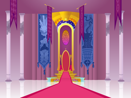 Canterlot Throne Room Front View by Hunternif