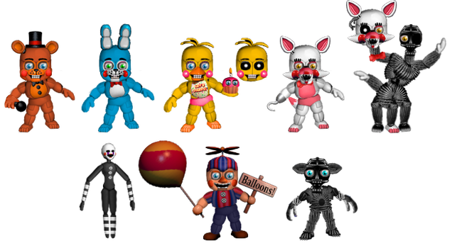 Five Nights at Freddybab's 2 (Wave 1) by BlackFoxPixels