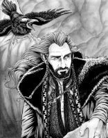 Thorin Oakenshield and Roac the Raven by cfgriffith
