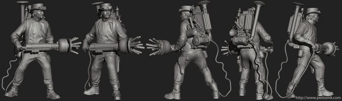 Steampunk Ghostbuster ZBrush by pedramk