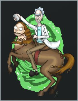 20% Human, As Usual, Morty by LuxeLibrarian