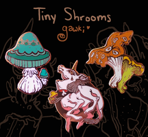 Tiny Shroom Pins by gawki
