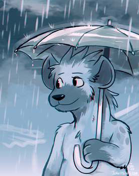 Guff in the Rain by raizy