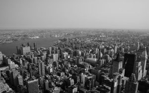 Looking down on NYC4 Wallpaper by lowjacker