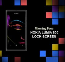 Nokia Lumia 800 Wallpaper : Glowing Face by bladerahul