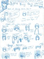 How to draw anime hair by KrazyKell