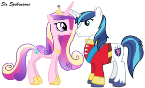 Cadence and Shining Armor by SirSpikensons
