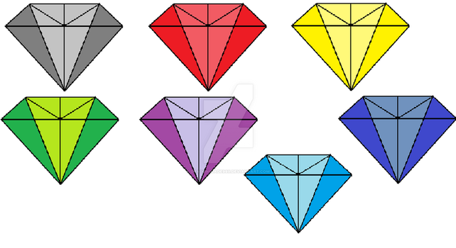 chaos emeralds by dragonblade99x