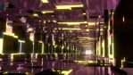 Purple and Yellow Mirrored Tunnel - Wallpaper by Dr-Pen