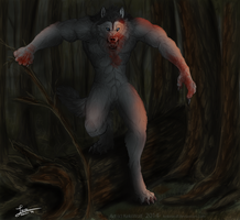Wolfbeast - Commission by KeksWolf