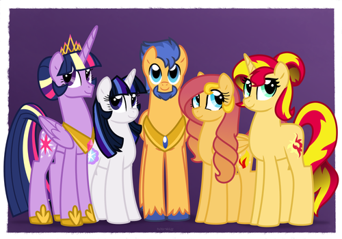 NG Family Portraits: Flash-Light-Shimmer Family by Faith-Wolff