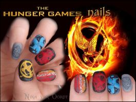 The Hunger Games nails by Ninails