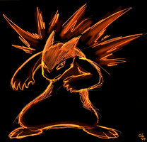 Commission 2009 - Typhlosion by raizy