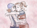 Femslash February - Sora and Mimi by ErinPtah