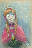 Princess Anna Portrait: 'That's a good sign!' by moviedragon009v2