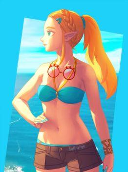 Summer Zelda BotW by bellhenge