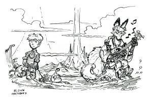 Inktober 7: Taming of the Vulpinal by Clone-Artist