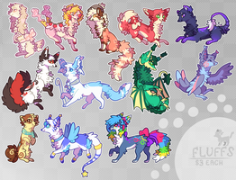 Character Fluffs by Kitsurie