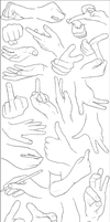 Hand Examples by DerSketchie