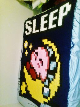 Kirby Blanket WIP Part 2 by coincollect408