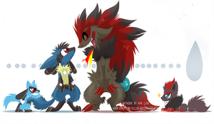 Lucario and Zoroark, ouch...