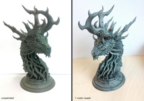 Forest Dragon bust by sandara