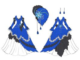 Blue Jay Dress Design by Eranthe