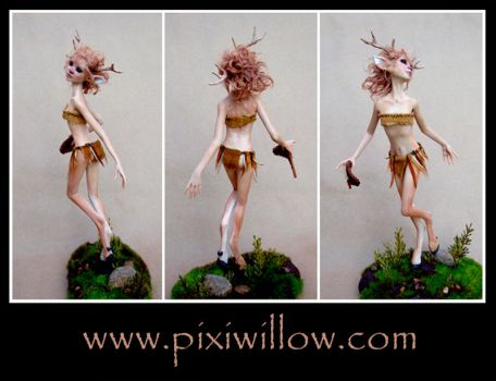 FAWN GIRL sculpture by pixiwillow