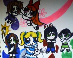 me alexis and corey as powerpuff girls by mistresscarrie