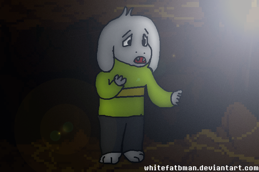 Pure as a flower..... (Asriel) by Whitefatbman